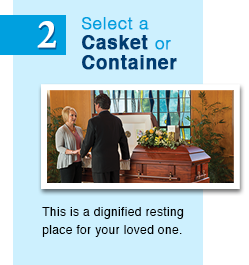 cremation casket, cremation container