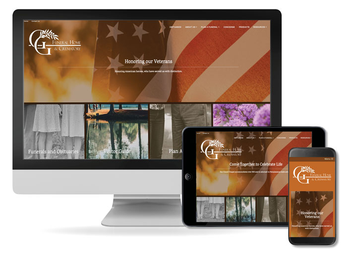 funeral home custom websites